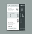 invoice template bill with price table paper vector image vector image