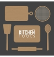 kitchen boards and wood tool vector image vector image