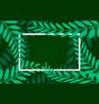 leaves frame white frame on background vector image vector image