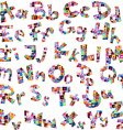 Letters of alphabet made of letters pattern vector image vector image