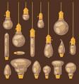 light bulb lightbulb idea solution icon vector image