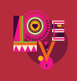 LOVE art poster vector image vector image