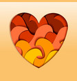 modern heart or love shape with papercut multi vector image vector image
