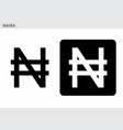 naira currency symbol vector image vector image