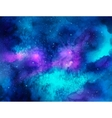 Outer space Watercolor vector image vector image