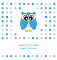 owl blue vector image