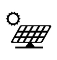 panel solar sun energy vector image