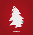 paper christmas tree vector image