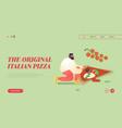 pizzeria bistro website landing page people vector image