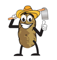 potato farmer man vector image