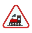 Railway sign vector image