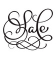 sale calligraphy word on white background hand vector image vector image