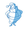 santa claus beard moustache christmas thin line vector image vector image
