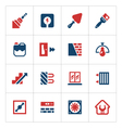 Set color icons of repair and building vector image