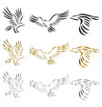 set line art logo eagle can be used vector image vector image