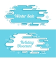 Set of festive winter banner vector image vector image