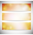 Set of horizontal banners Abstract multicolored vector image vector image