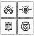 Set of school emblems vector image vector image