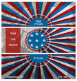 Set of three banners in the US national flag vector image vector image