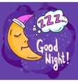 Sleep Time vector image vector image
