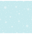 Snowflakes Falling Seamless Pattern vector image vector image