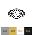 speedometer icon odometer and fuel full signs vector image
