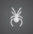 Spider sketch logo doodle icon vector image