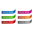 sticker on six different color variations vector image vector image