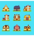Suburban Real Estate Houses Set vector image