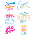 summer quotes inspiration travel and journey vector image