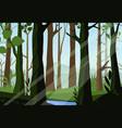sunset in the woods vector image vector image