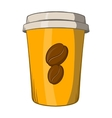 Take away coffee cup icon cartoon style vector image vector image