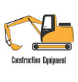 the excavator vector image