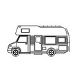truck camping transport travel tourism vector image