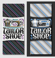 vertical banners for tailor shop vector image vector image