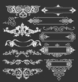 Vintage floral decorative border elements vector image vector image