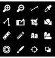 white graphic design icon set vector image vector image