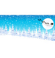 winter landscape santa on a sleigh with reindeer vector image vector image