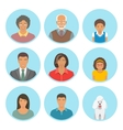 African American family faces flat avatars vector image