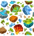 Gaming Islands And Nature Elements Pattern vector image