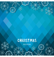 Christmas and New Year rhombus background vector image