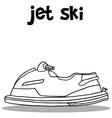Jet ski transport hand draw vector image