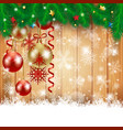 christmas background with christmas balls and vector image