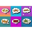 set of comic speech bubbles in pop art vector image