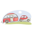 summer travel in a house on wheels vector image