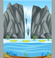 a simple waterfall scene vector image vector image