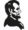 abraham lincoln hand drawn portrait vector image vector image