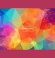 abstract colorful geometric polygonal background vector image vector image