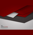 abstract gradient red triangle overlap design vector image vector image