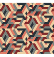 Abstract Seamless Geometric Pattern Vintage Colors vector image